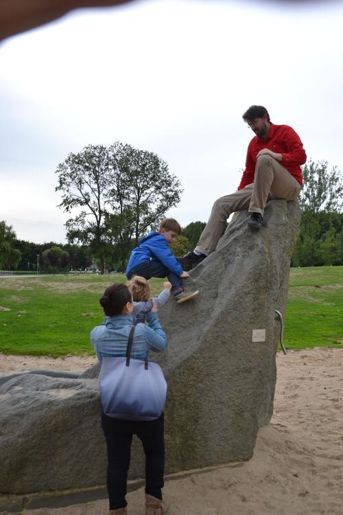 Grote kinderen vinden het ook leuk om te klimmen...