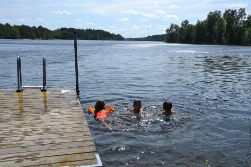 Zwemmen in et grote meer